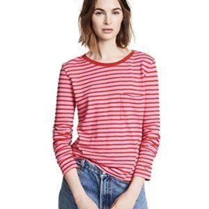 EUC  PAM & GELA  striped pocket tee  medium size.